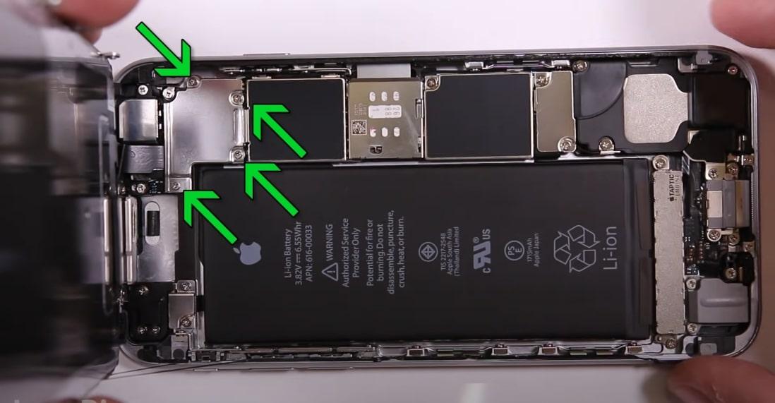 Замена аккумулятора iPhone 6s цена